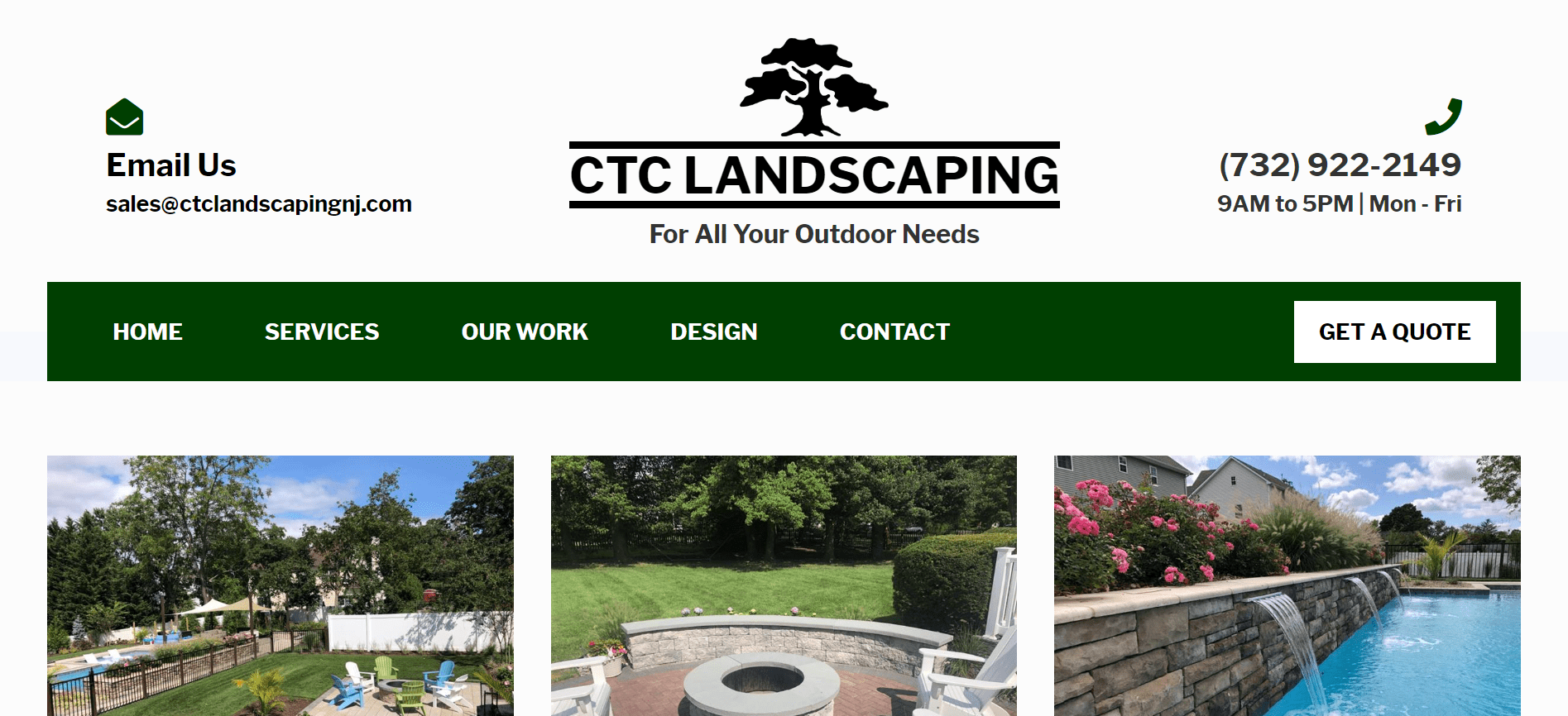 CTC Landscaping website by Jesse The Web Guy