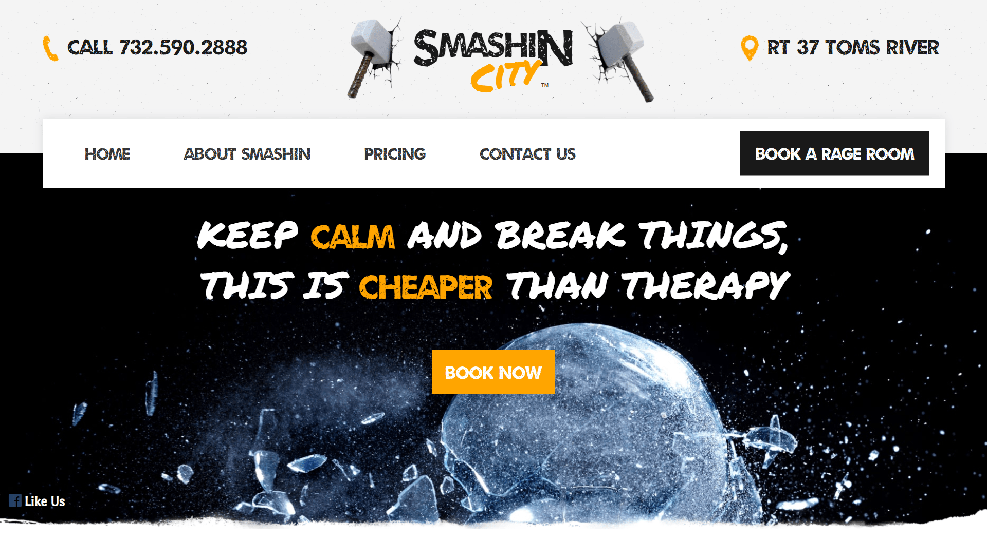 Smashin City Rage Room LLC website by Jesse The Web Guy