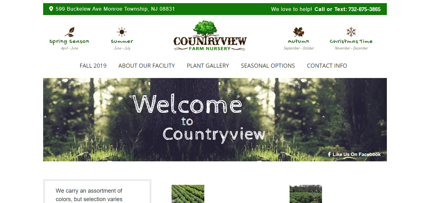 Countryview Farms website by Jesse The Web Guy